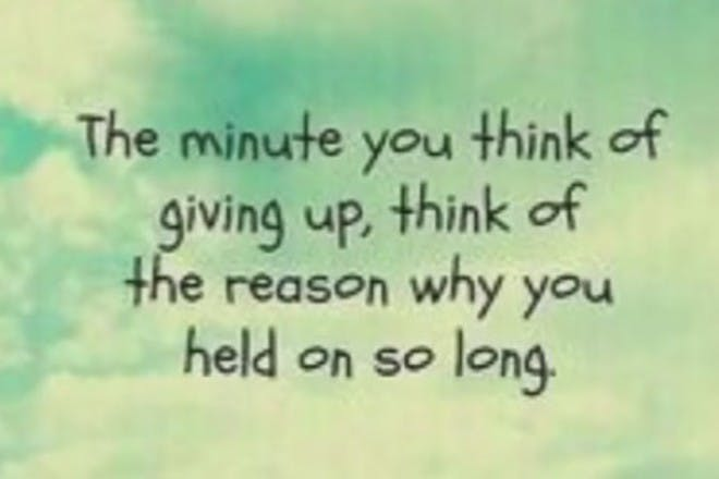 thinking of giving up