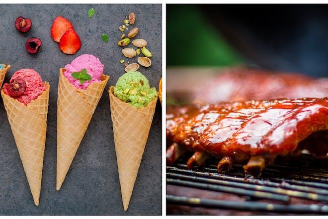 Ice creams / BBQ ribs