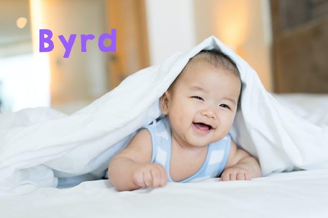 Baby boy smiling