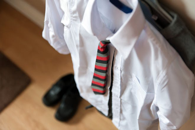 School uniform hanging up