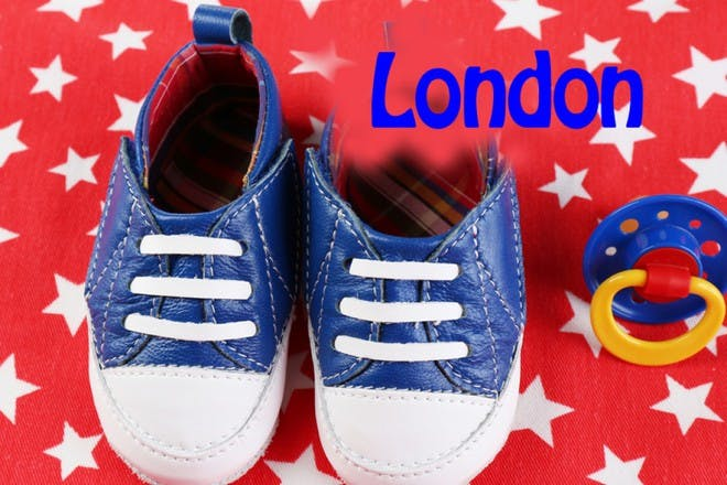 shoes on starry background