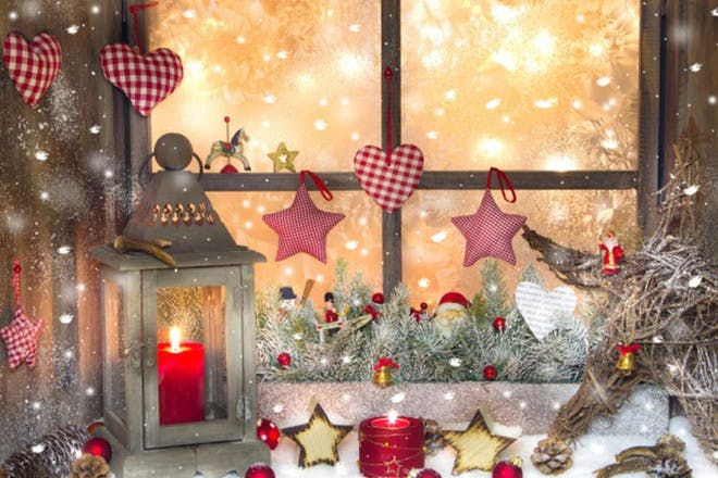 lantern and hearts and stars decorations