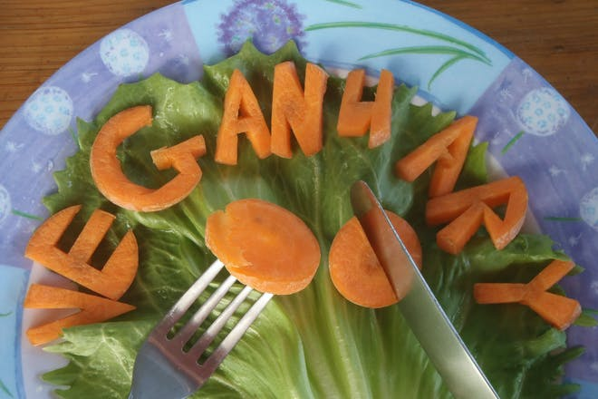 veganuary spelled out in carrots