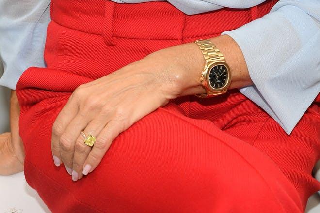 Victoria Beckham yellow engagement ring