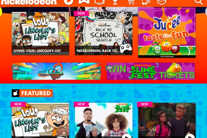 Nickelodeon educational website
