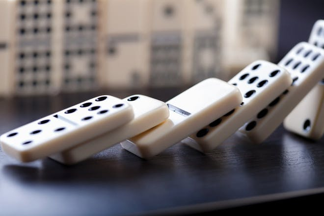 84. Play a game of dominoes