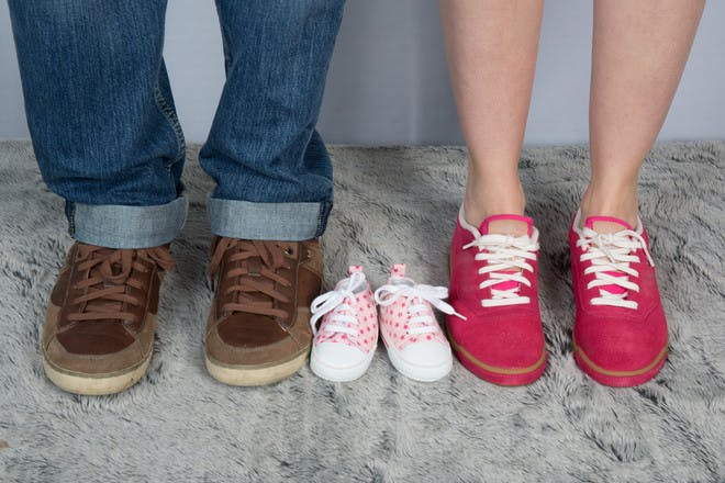 Family feet and shoes