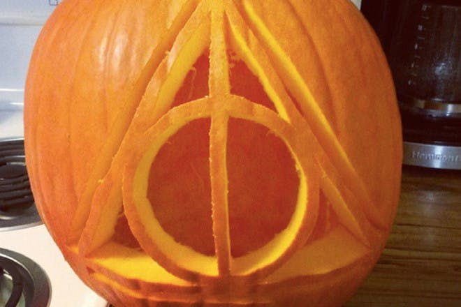 Deathly Hallows pumpkin