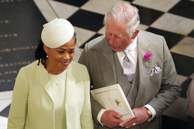 Doria Ragland and Prince Charles talking