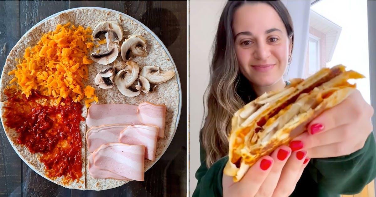 Crunchwrap |Tik Tok Tortilla Wrap Hack | Keto | Vegan ...  |Tiktok Wraps