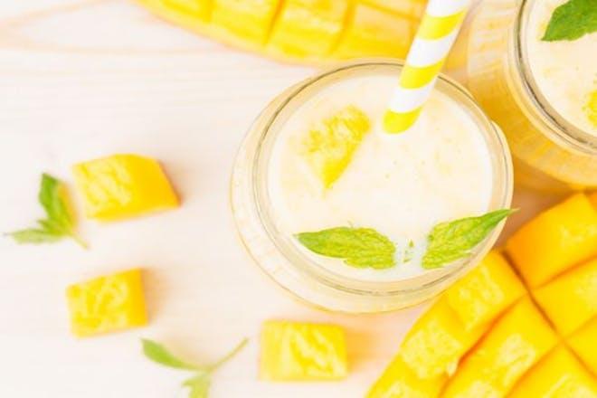 Mango milkshake for kids