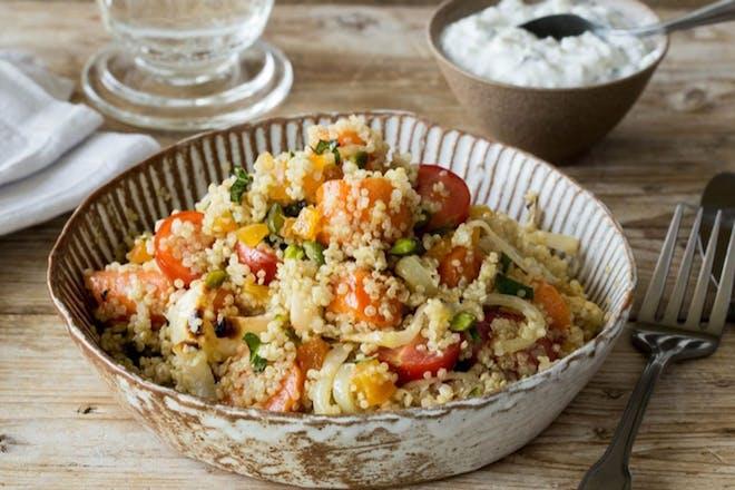 Quinoa and summer veg salad