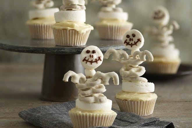 Skeleton cupcakes recipe by Annabel Karmel