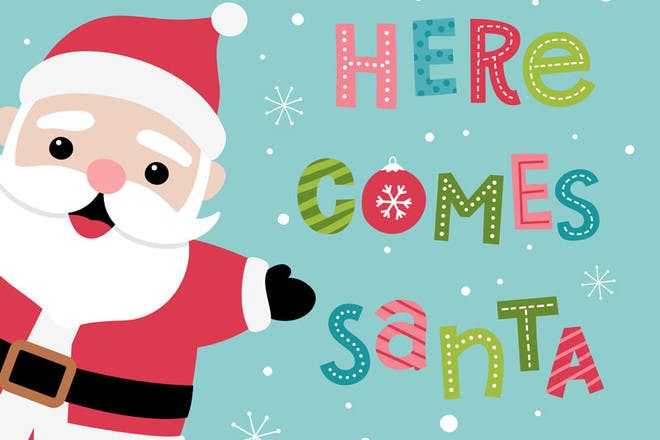 Here Comes Santa Claus - Christmas songs for kids