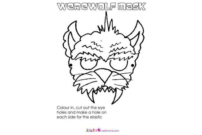 werewolf mask print off