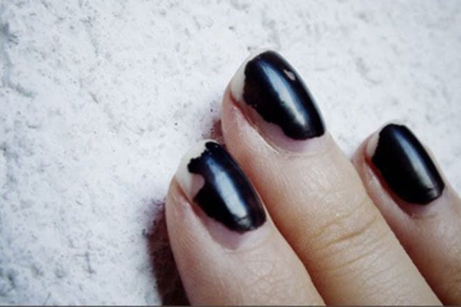 9. Painted your nails jet black