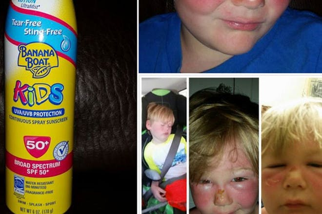 banana boat lotion facebook pictures