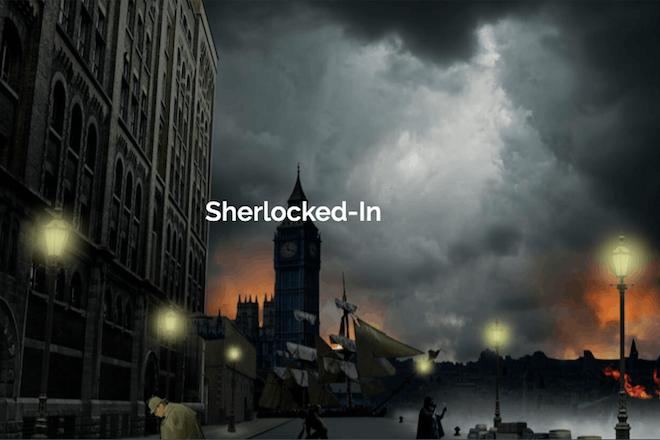 Victorian London street scene by night