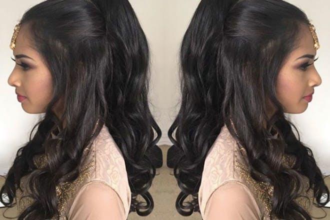20. Half up, half down ponytail