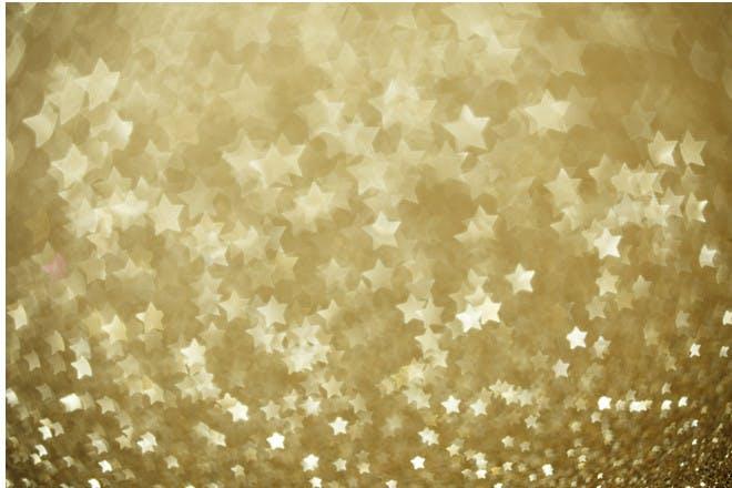 gold stars shimmering