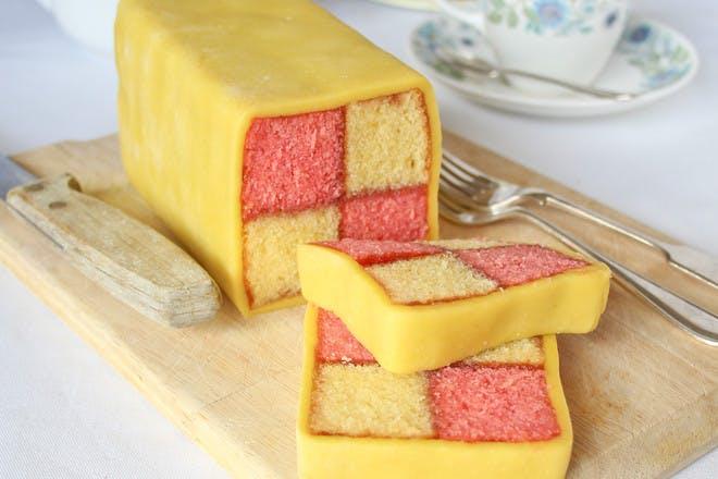 Battenberg cake. Gluten-free Battenberg cake recipe