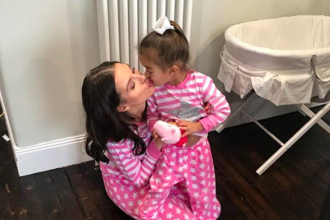 Helen Flanagan kissing daughter