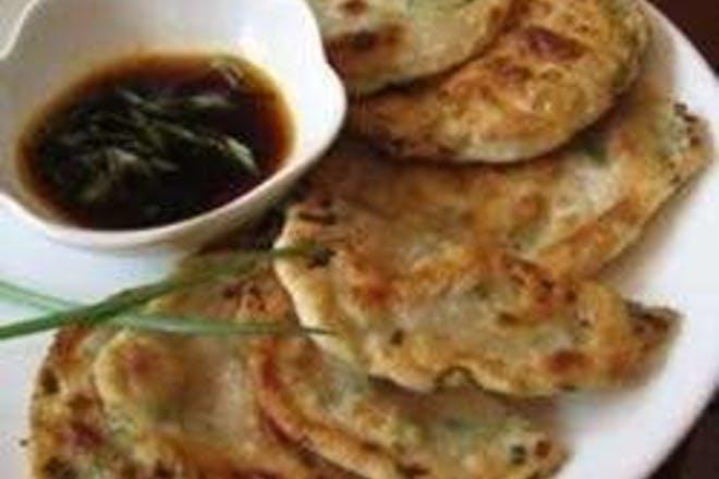 26. Chinese spring onion pancakes