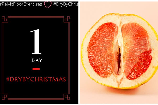 Left: #DryByChristmas campaign. Right: Grapefruit