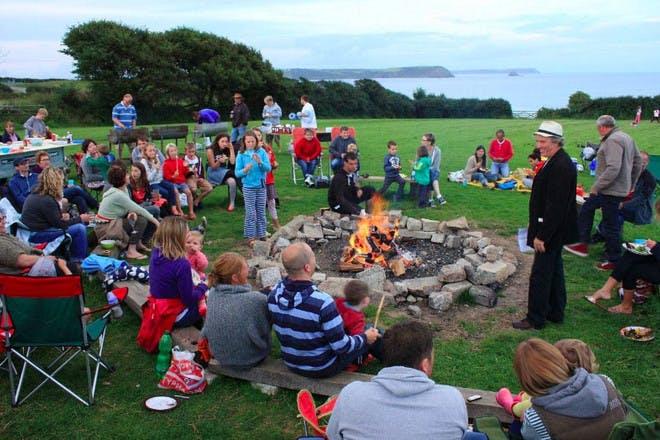Arthur's field bonfire