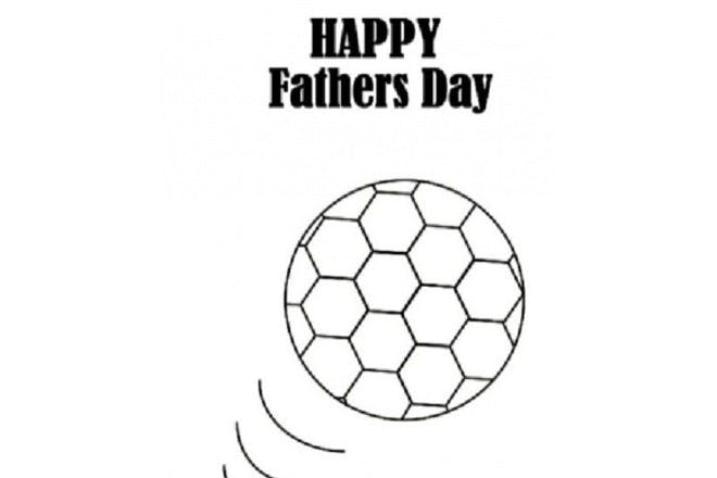 Happy Father's Day - football