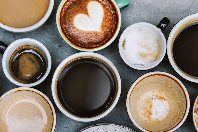 cups of different types of coffee