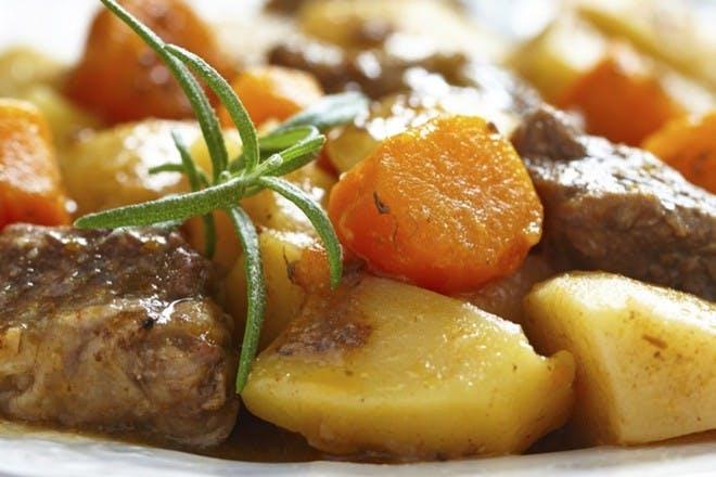Beef & horseradish casserole