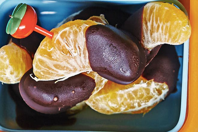 Chocolate dipped tangerines