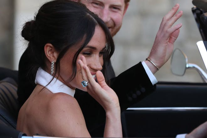 16. Meghan's reception ring