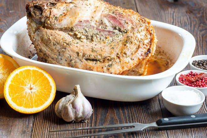 8. Gammon with orange, garlic and herbs