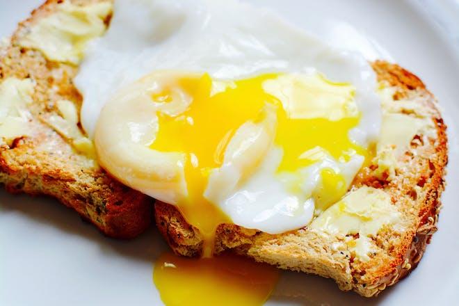 runny egg on toast