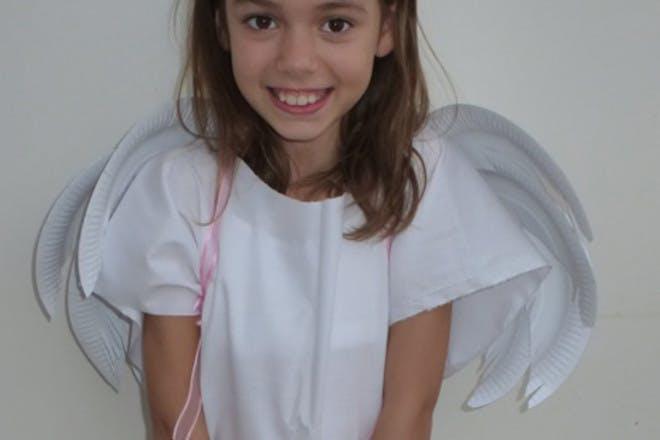 angel wings on girl
