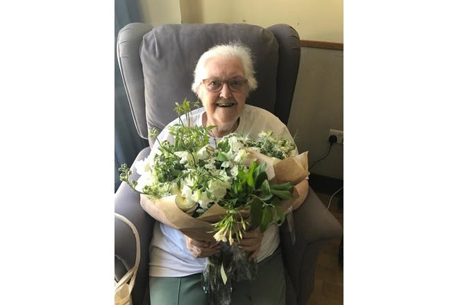 30. When the wedding flowers were sent to a local hospice