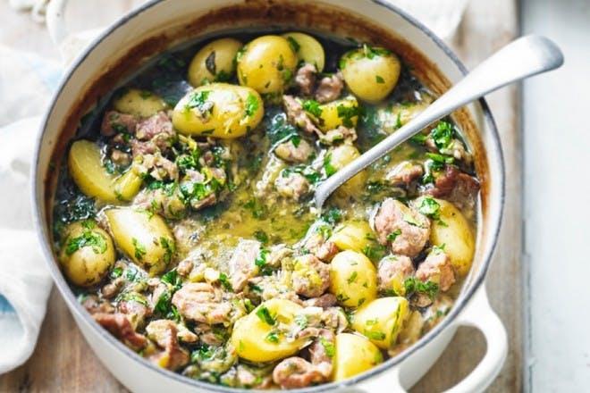 4. Lamb and new potato casserole