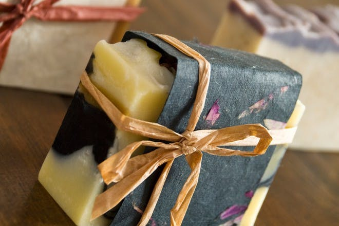 soap with string ribbon