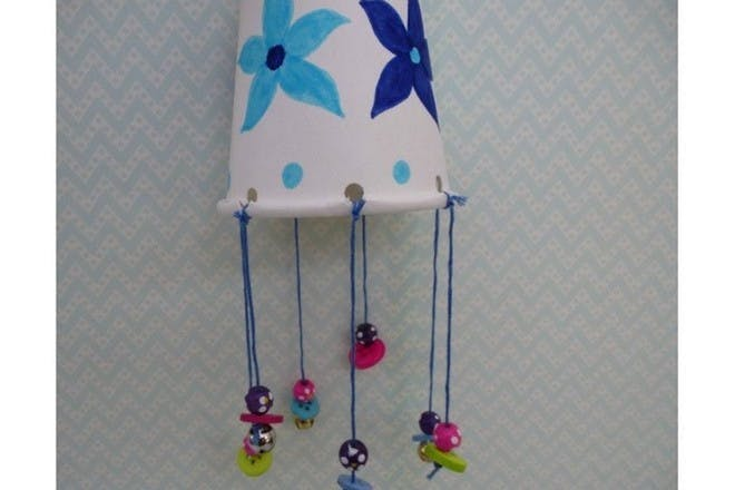 Paper cup wind chimes