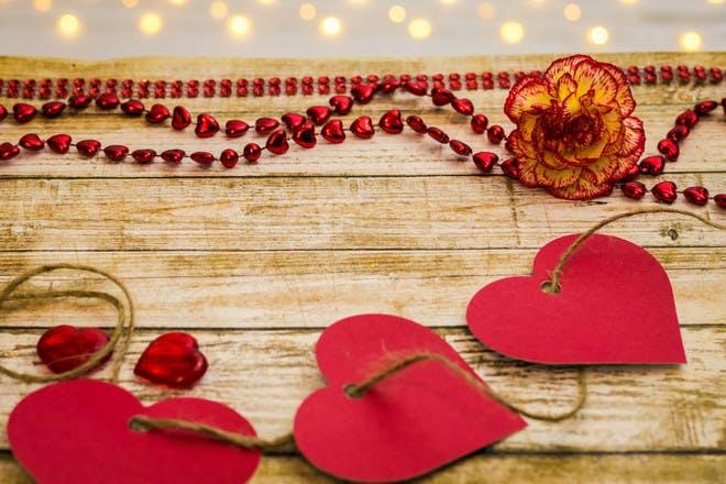 5. Paper heart garlands