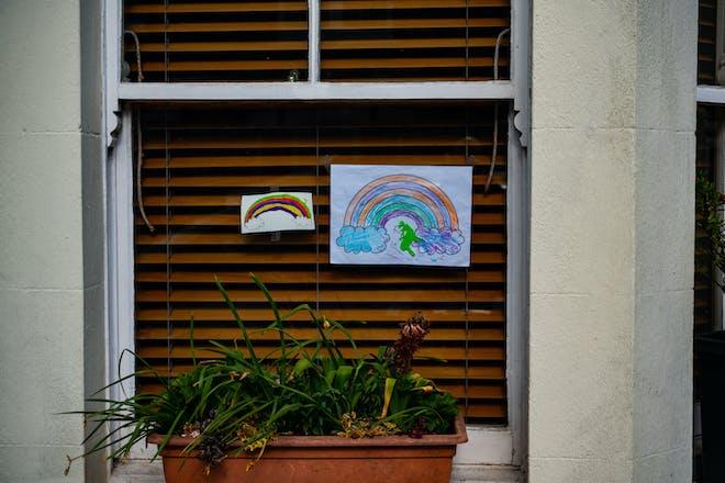 Rainbows lockdown window