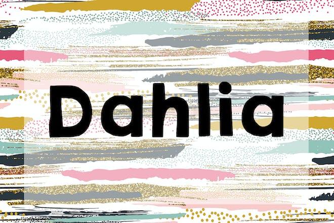Dahlia name