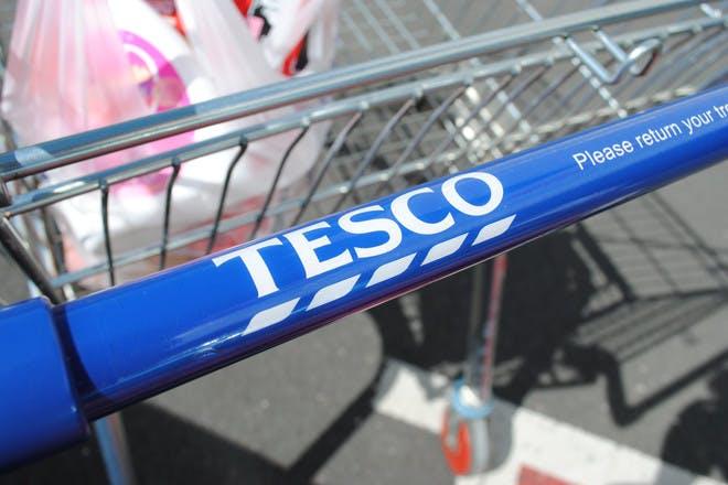 Tesco shopping trolley handle