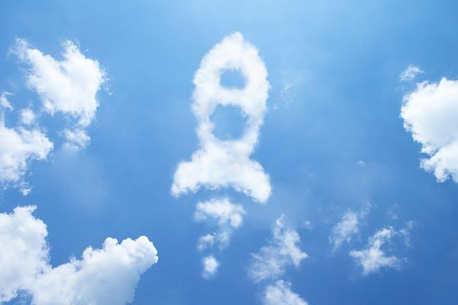 Rocket-shaped cloud