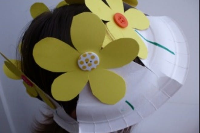 How to make a paper plate flower Easter bonnet