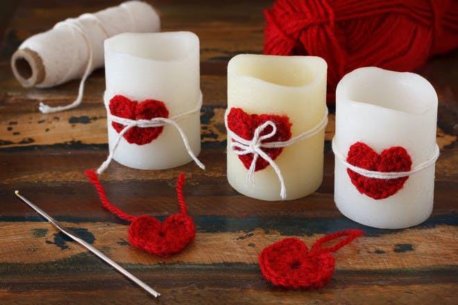8. Crochet hearts
