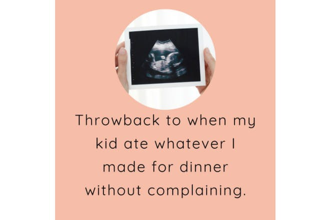 Baby led weaning throwback