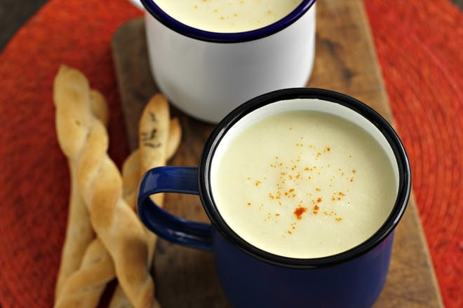 Cauliflower cheese soup recipe by Rachel's Organic